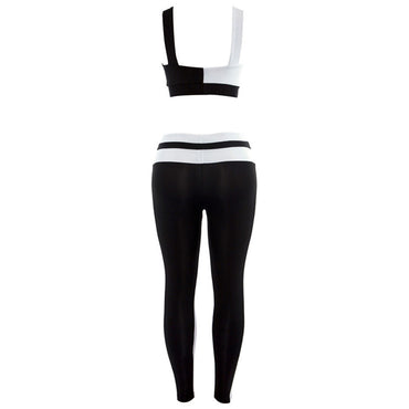 Patchwork Sports Elasticity Yoga Set Yoga Sets - Arhametics