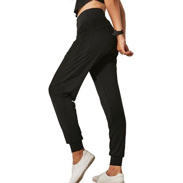 Slim Beam Pocket Loose Yoga Pants Leggings - Arhametics