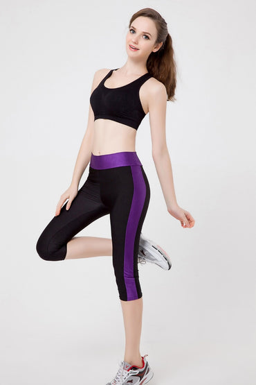Zippe Pocket Leggings Fitness Yoga Capri Pants Capris - Arhametics