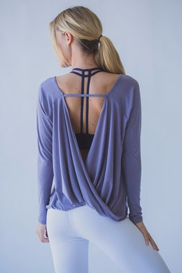 Open Back Sport Shirt Yoga Top