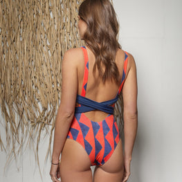 Fused Monokini Solid Swimsuit