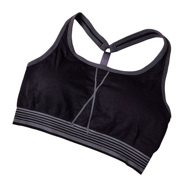 Summer Sport Bras Push Up One Piece Bra Running Jogging Fitness Yoga Bra Breathable Shockproof Quick Dry Sport Top  - Arhametics