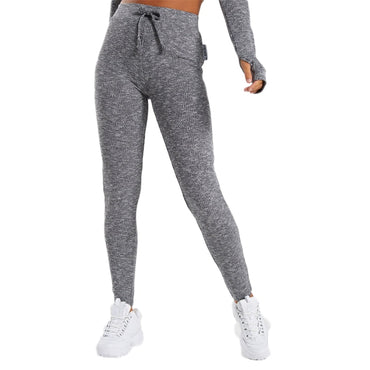 European Style Charcoal Marl Yoga Leggings Leggings - Arhametics