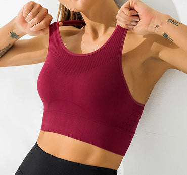Seamless Shockproof High Impact Sports Bra Bras - Arhametics