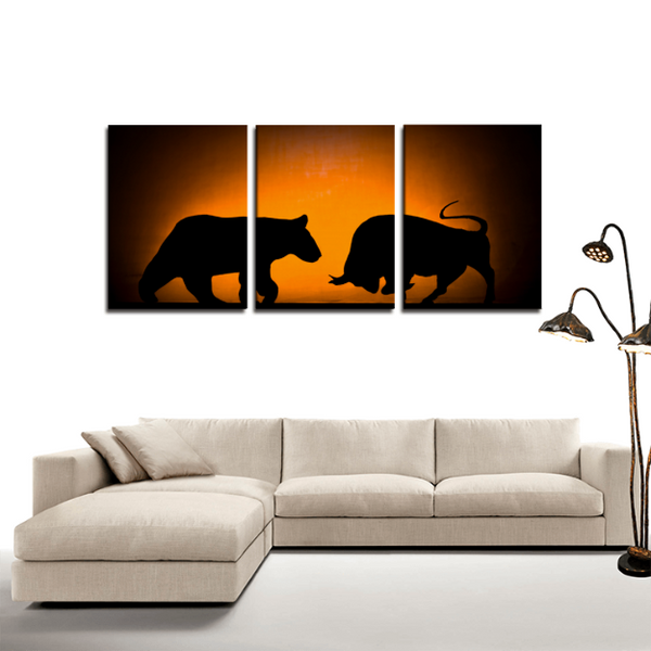 Trading 3 Panels Canvas Print