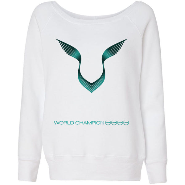 Formula 1 Sweatshirt Women Fleece Lewis Hamilton World Champion 2017 - Logo - Wide Neck