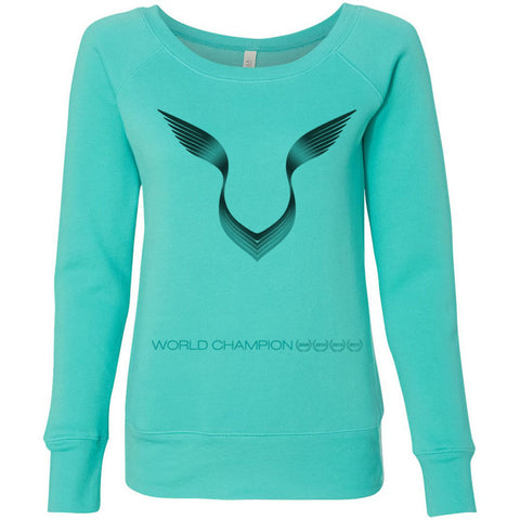 Formula 1 Sweatshirt Women Fleece Lewis Hamilton World Champion 2017 - Logo - Wide Neck Unicorn Llama unicornllama.com