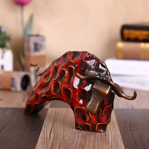 Metal Bull for Every Trader's Desk – Red Color