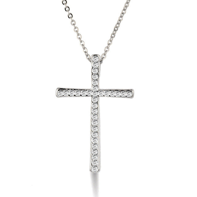 Cross pendant necklace chain disify cross pendant necklace chain aloadofball Image collections