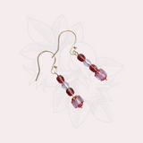 Lavender and Lilac Bead Earrings
