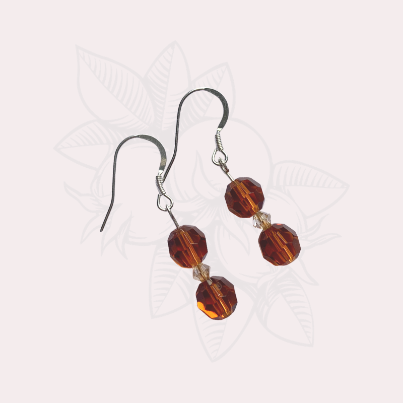Black Banded Agate Earrings