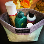 Green Linen Fabric Basket