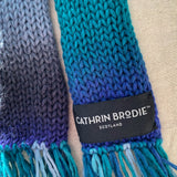 Shades of Blue Tassel Scarf