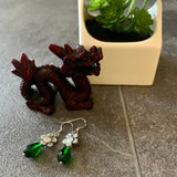 Daisy Green Earrings