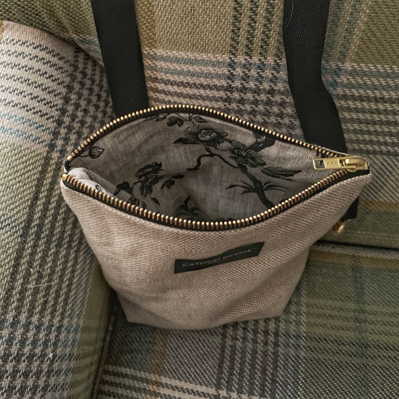 Small Linen Shoulder Bag