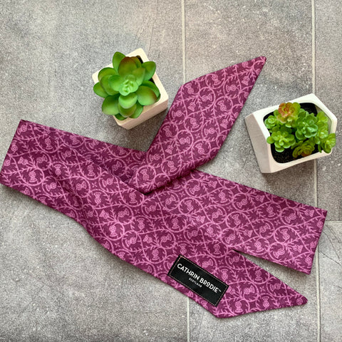 Purple Cotton Skinny Scarf