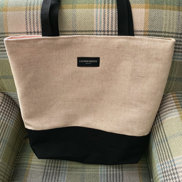Linen Tote Shopping Bag