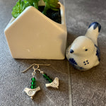 Load image into Gallery viewer, Birdie Earrings in green