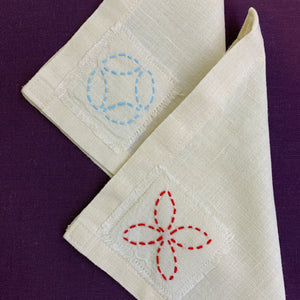 Sashiko Afternoon Tea Napkins
