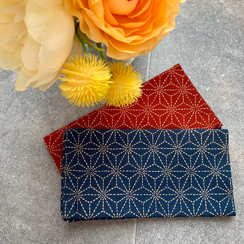 Japanese Asanoha Pattern - Two Napkins