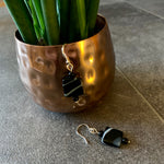Load image into Gallery viewer, Black Banded Agate Earrings