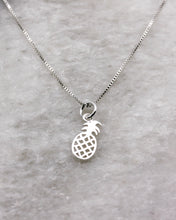 Pineapple Pendant Necklace Sterling Silver