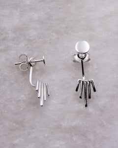 Silver 2 Part Earring