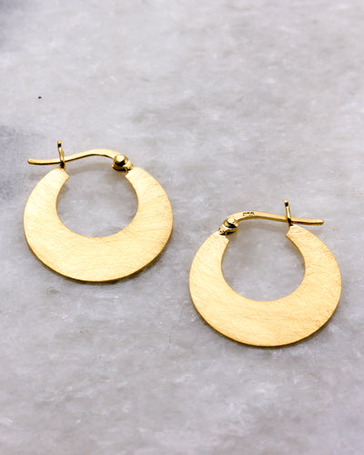 Modern creole hoop earrings gold