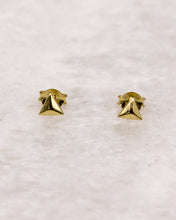 Gold Triangle Pyramid Ear Studs