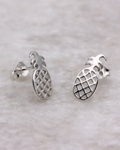 Pineappple Stud Earrings Sterling Silver