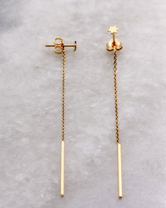 Star and Thread Long Earring gold
