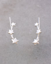 Silver 3 stars ear crawlers