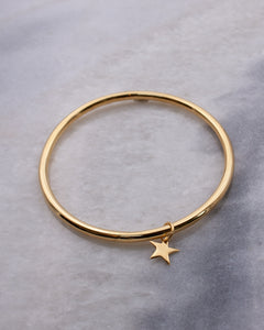 Dainty Star Charm Bangle