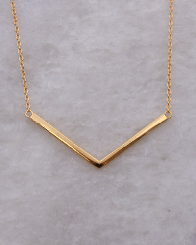 Wide Chevron Necklace