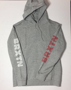 Brixton Sleeve Print Hood Heather Grey