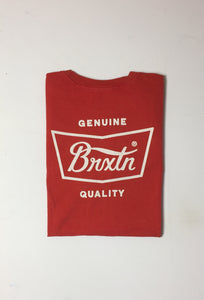 Brixton Worn Wash Sith Logo S/S Tee Red