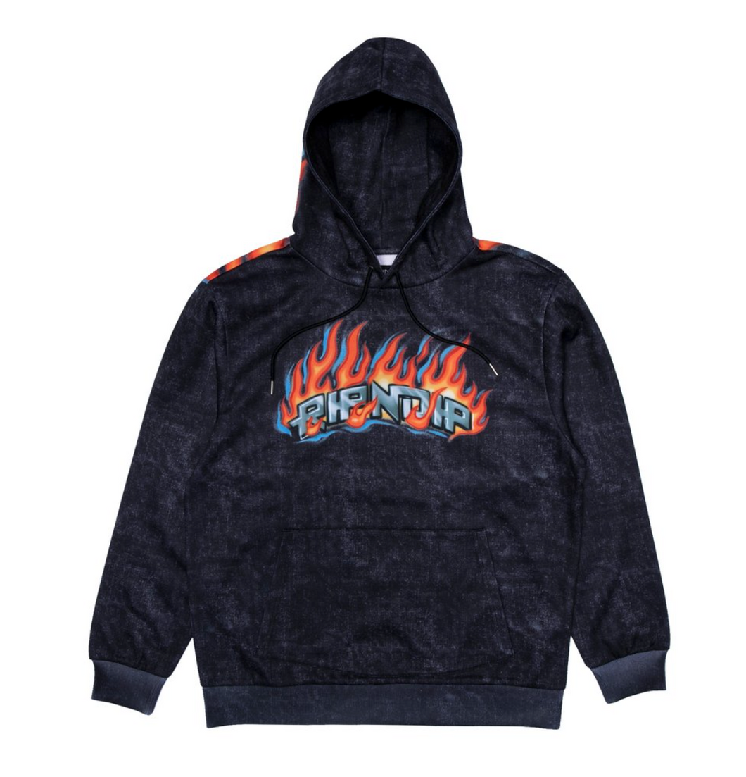 Rip N Dip Hell Ride Hoodie Black Mineral Wash