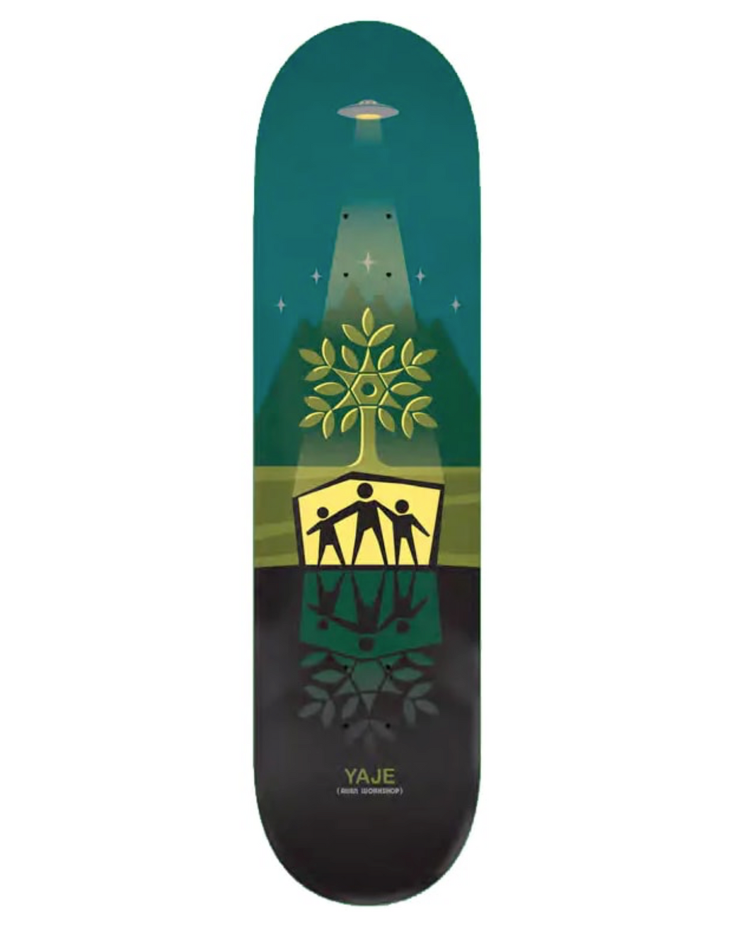 Alien Workshop Yaje Deck Shelter Green 8.125