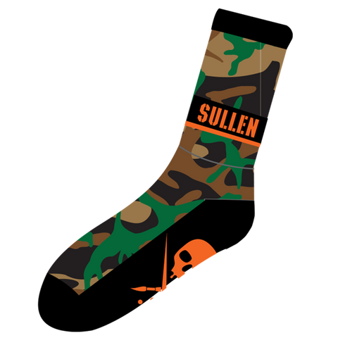 steelwave:Hunted socks Green Camo - chaussettes Sullen