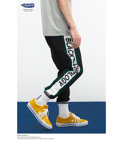"""Black Technology"" Side Stripe Track Pants"