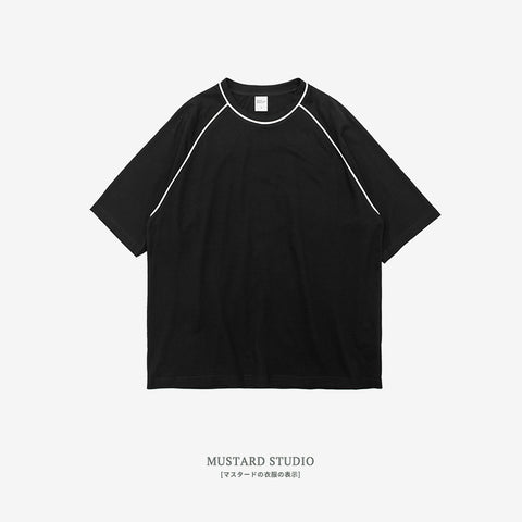 Relaxed Fit Thread Line Tee