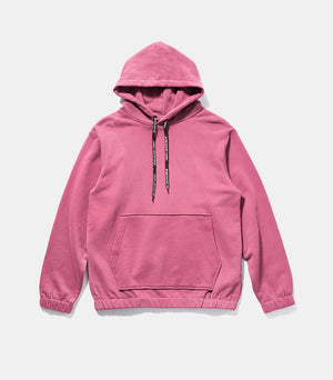 Solid Colour Drawstring Detail Hoodie
