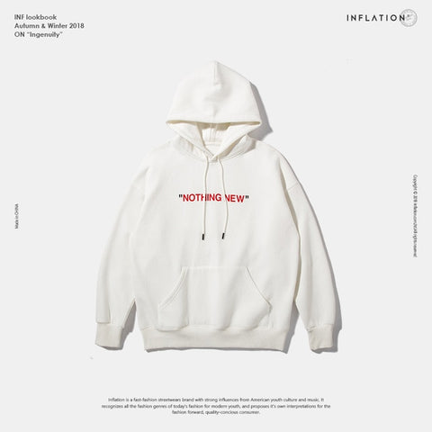 """Nothing New"" Fleeced Hoodie"