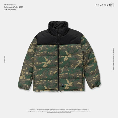 Split Camo Down Jacket
