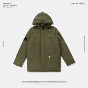 Oversized Down Jacket with tag Detail
