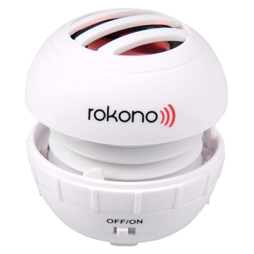 Rokono BASS+ Mini Line-in Speaker - White