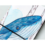 Marine Wizard Japanese Style Whale Softcover Notebook | Journal - Deskspo