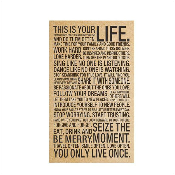 This is Your Life Wall Sticker | Poster - Deskspo