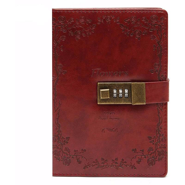 Red Rose Leather Journal | Journal - Deskspo
