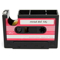 Retro Cassette Tape Dispenser | Pen Holder - Deskspo